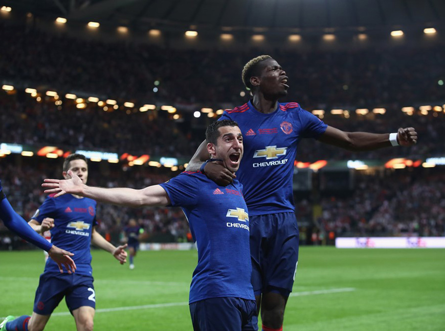 Manchester United win Europa League